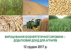 Інформаційний день  «Використання малопродуктивних земель для вирощування сталої біоенергетичної сировини – додатковий дохід для аграріїв»