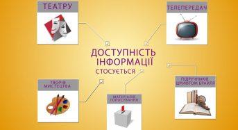 """Проект """"Доступність для всіх"""" : інформаційна доступність"""