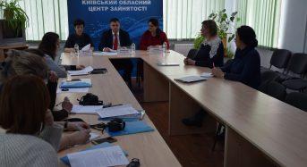 У міськрайонному центрі зайнятості відбулася прес-конференція за участю директора Київського обласного центру зайнятості