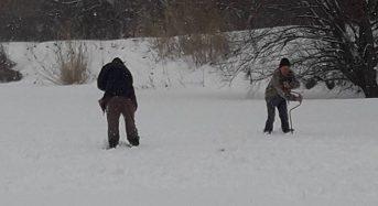 """В Переяславі-Хмельницькому жителі міста рятують рибу від """"задухи"""" на річці Альта"""