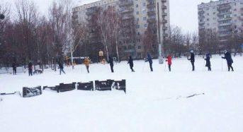 На Київщині студенти змагались з лижних перегонів
