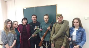 Зустріч студентів переяславського вишу з учасниками АТО Леонідом Бондарем і Людмилою Романенко