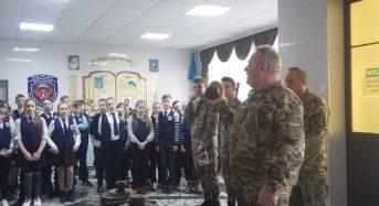 """На Київщині у військовому ліцеї """"Патріот"""" роз'яснено вихованцям про ризики, пов'язані з мінами і боєприпасами, коли мова йде про дітей в умовах бойових дій"""