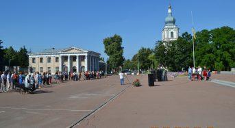 У Переяславі-Хмельницькому відбувся мітинг-реквієм приурочений Дню скорботи і вшануванню пам'яті жертв війни в Україні (Фоторепортаж)