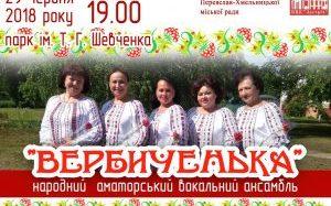 Вокальний ансамбль «Вербиченька» подарував переяславцям вечір дозвілля