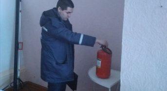 Проведено планову перевірку протипожежного та техногенного стану ЗОШ №1.