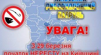 Із 29 березня на Київщині встановлюється нерестова заборона