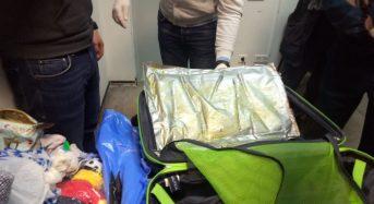 В пункті пропуску «Бориспіль» зафіксовано спробу контрабанди майже 3,5 кг кокаїну