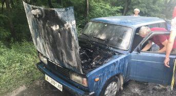 На трасі Бориспіль-Дніпро загорівся автомобіль