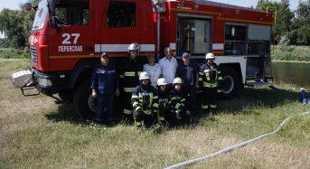 Рятувальники провели тактичні навчання з гасіння пожеж у екосистемах