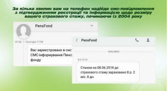 Як налаштувати сервіс смс-інформування від Пенсійного фонду України