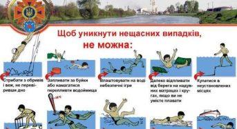 Будьте обережні на воді!