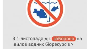 Розпочинається осінньо-зимова заборона на лов водних біоресурсів у зимувальних ямах