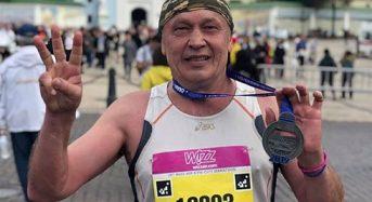 """""""Wizz Air Kyiv City Marathon"""". 59-річний переяславець Віктор Шарапка подолав напівмарафон"""