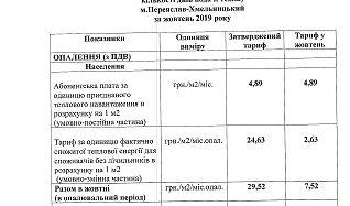 """Здійснено перерахунок тарифів на послуги КП КОР """"Переяслав-Хмельницьктепломережі"""""""