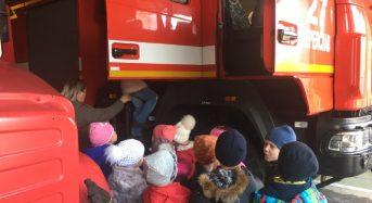 12 листопада в рамках тижню безпеки життєдіяльності до рятувальників завітали дітлахи з ЗОШ №6