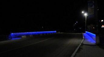 Альтицький міст світиться в темну пору