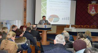 У Переяславі перед територіальною громадою звітував міський голова Тарас Костін (Відео, фото)