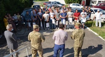 Відбулися проводи призовників на строкову службу до лав Збройних Сил України