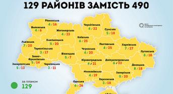 129 замість 490: Навіщо скорочувати кількість районів в областях?