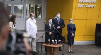 Президент оглянув Бориспільську лікарню після капремонту