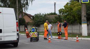 Розпочалися роботи з нанесення дорожньої розмітки на вулицях Переяслава