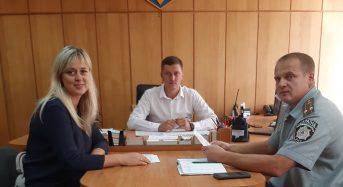 Відбулася зустріч керівника Центру пробації Василя Паламарчука з нещодавно призначеним  начальником поліції Максимом Дьоміним