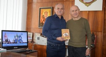 Олександр Матвієнко презентував своє видання благодійнику Вячеславу Саулку