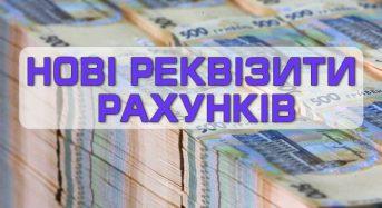 Увага! Нові рахунки місцевого бюджету за надходженнями, які вступили в дію з 01.01.2021 року