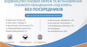АТ «Київоблгаз» виконує повний спектр послуг від проектування до пуску газу