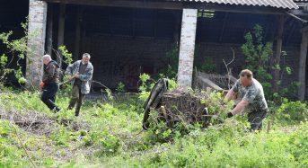 Чергові роботи по благоустрою військового містечка (Фото, відео)
