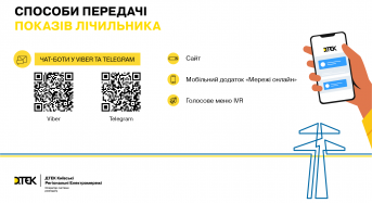 Для зручності клієнтів: у ДТЕК Київські регіональні електромережі працюють дистанційні сервіси передачі показів лічильника